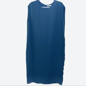 MM Lafleur Navy Blue Sleeveless Shift Dress